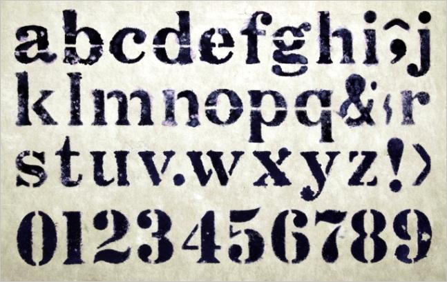 best letter stencils