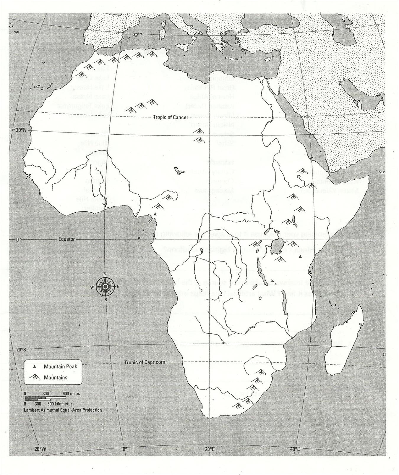 geography africa map quiz blankml