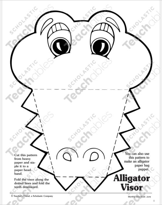 alligator visor pattern 056ml