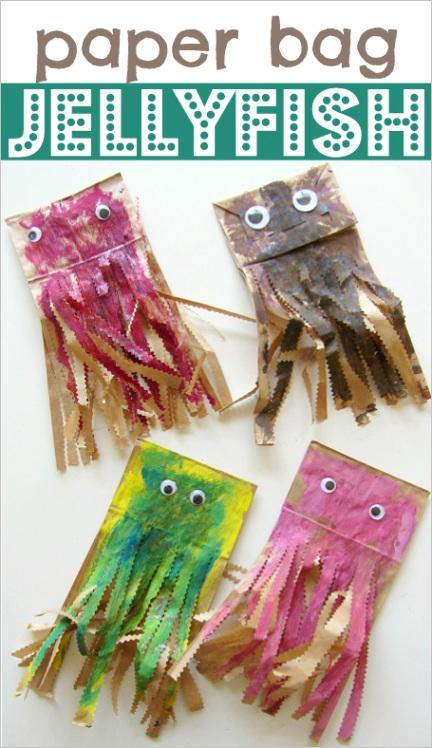 paper bag jellyfish craftml