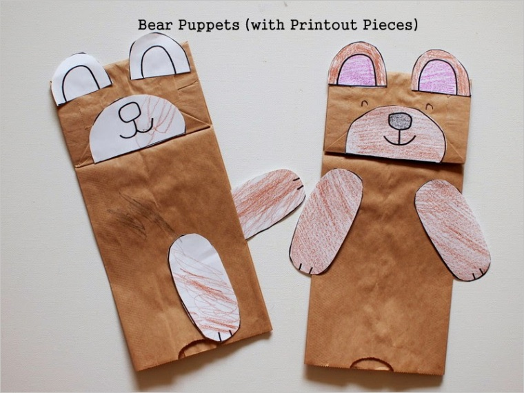 s=Paper Bag Bear Puppet Pattern