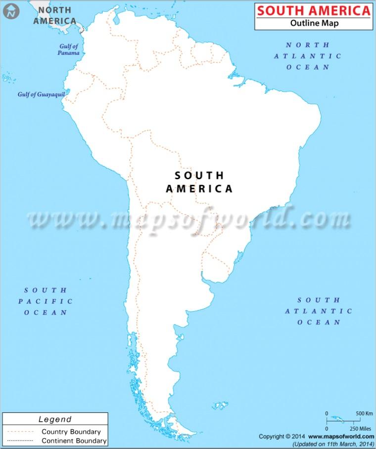 southamerica outline mapm