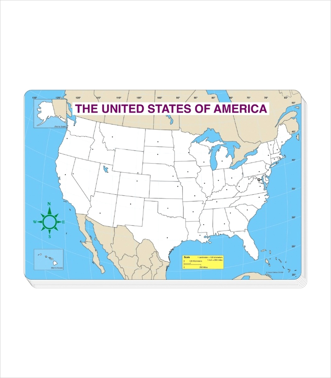 3091 u s map blank jumbo pad grade pk 5 3091