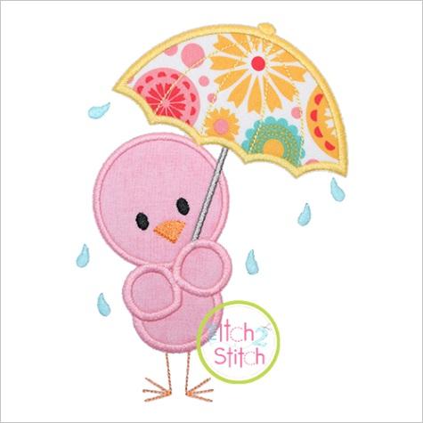 Umbrella Bird Appliqueml