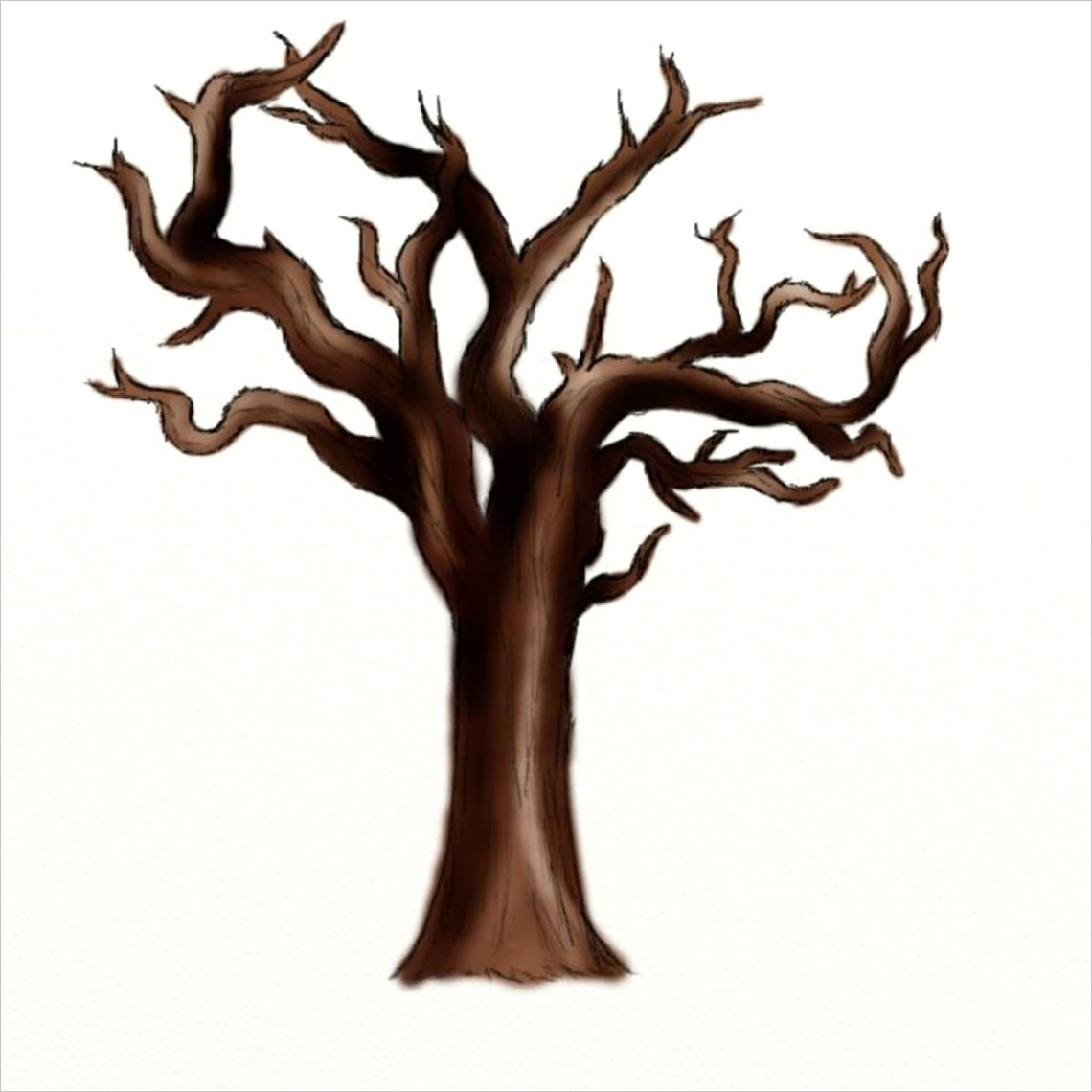 How to draw a dead tree