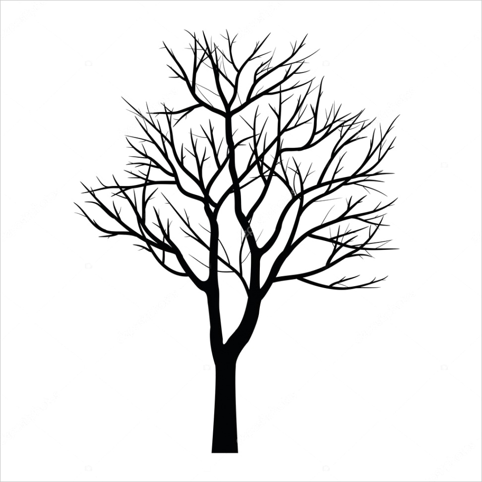 stock illustration trees with dead branchml