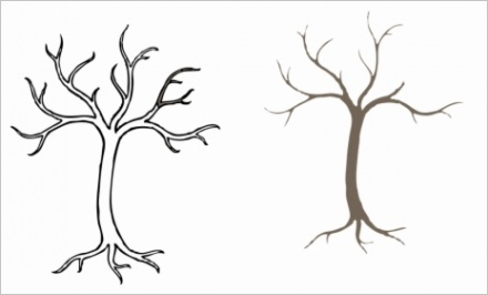 hJTwbiJ simple bare tree drawing hd png