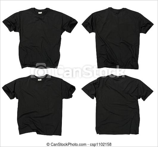 blank black t shirts ml