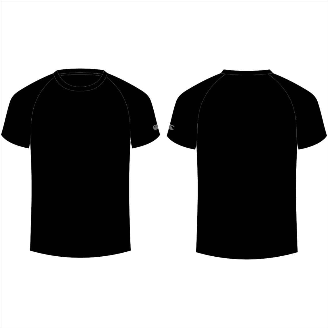 a blank black t shirt design