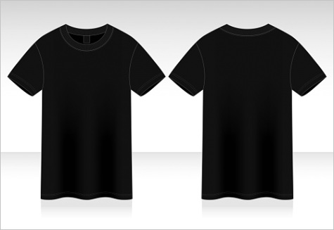 blank black t shirt vector for template gm