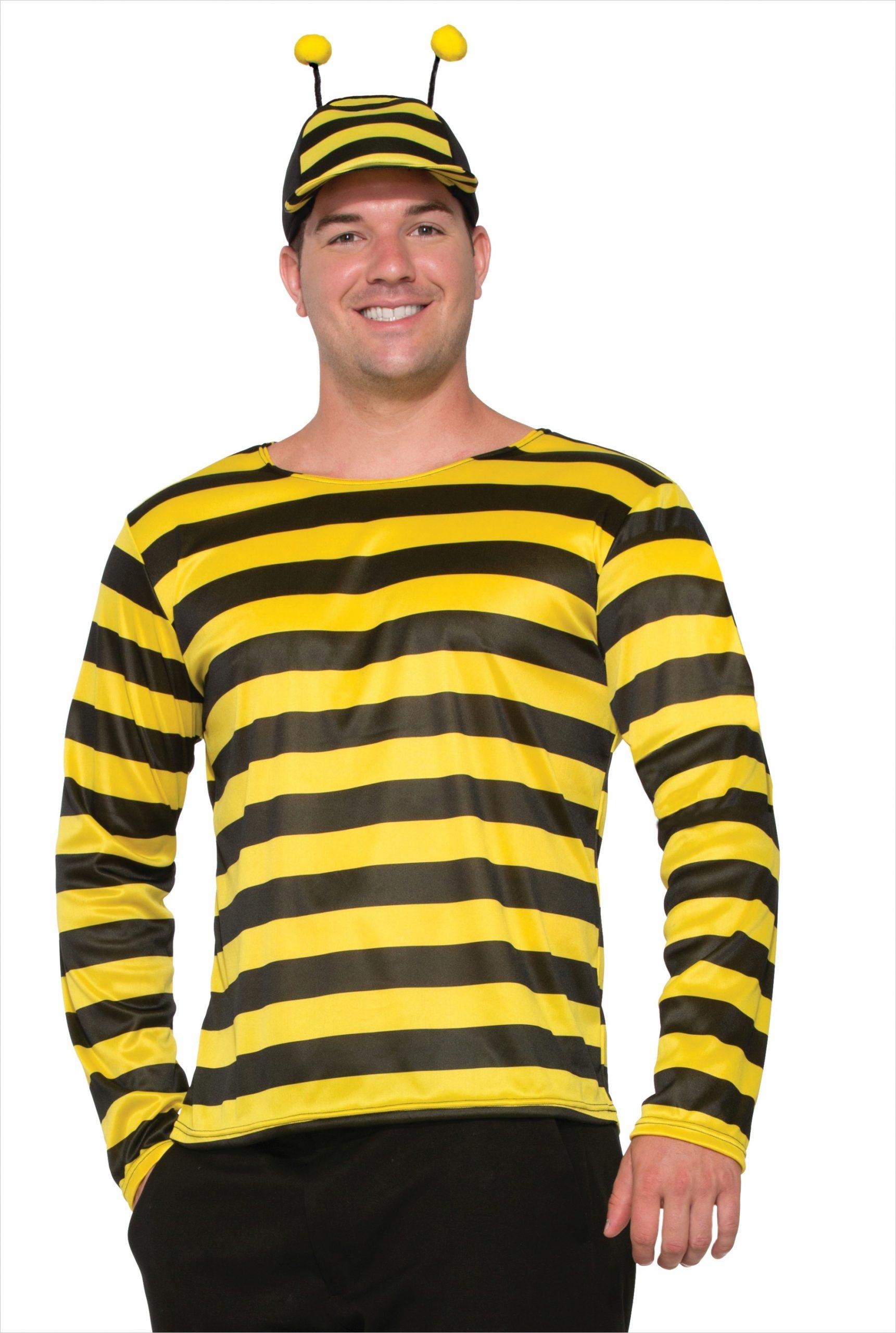 yellow black striped bumble bee shirt