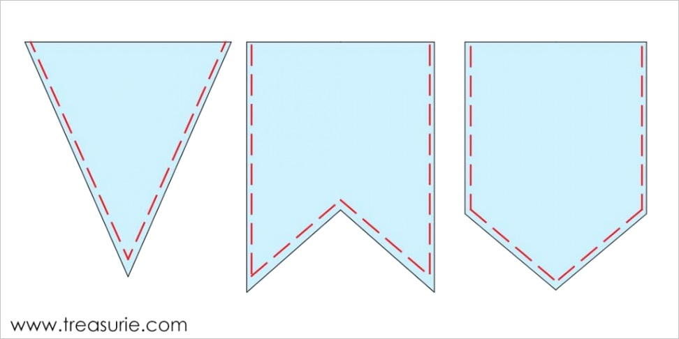 how to make bunting template