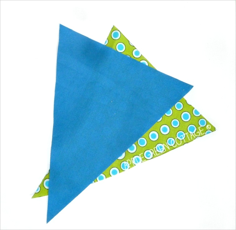 fabric bunting banner tutorial with template