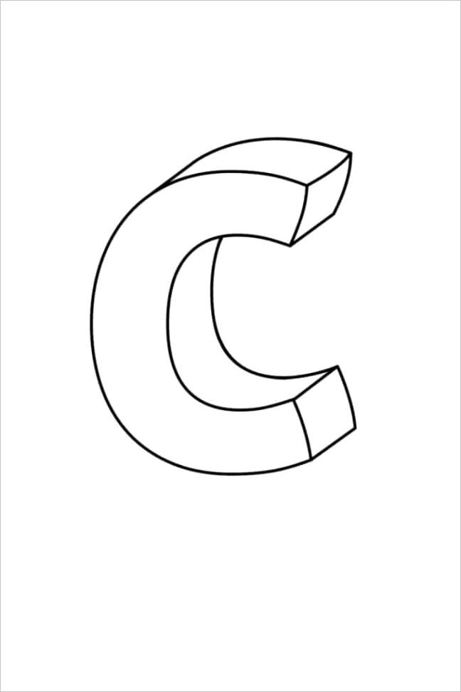 printable bubble letters fancy letter c