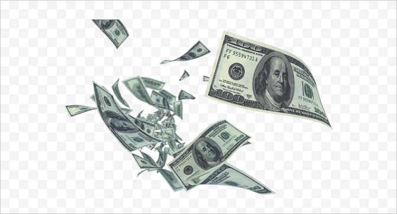 mohbRi money flying 100 dollar bill clipart