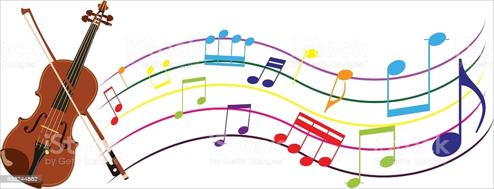 violin bow and sheet music gm