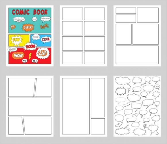 ic book page template