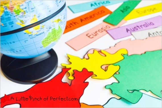 world map geography activities for kids