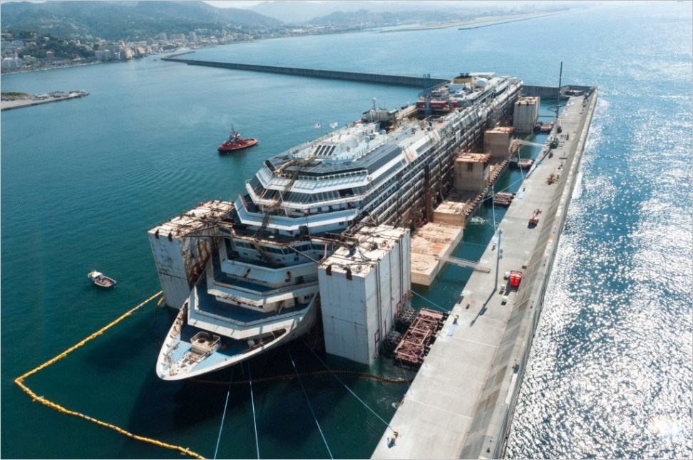 costa concordia dismantling pleted in italy