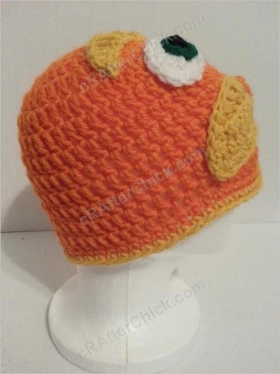 lorax dr suess character hat crochet pattern