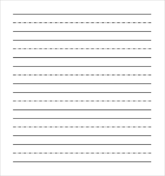 word lined paper