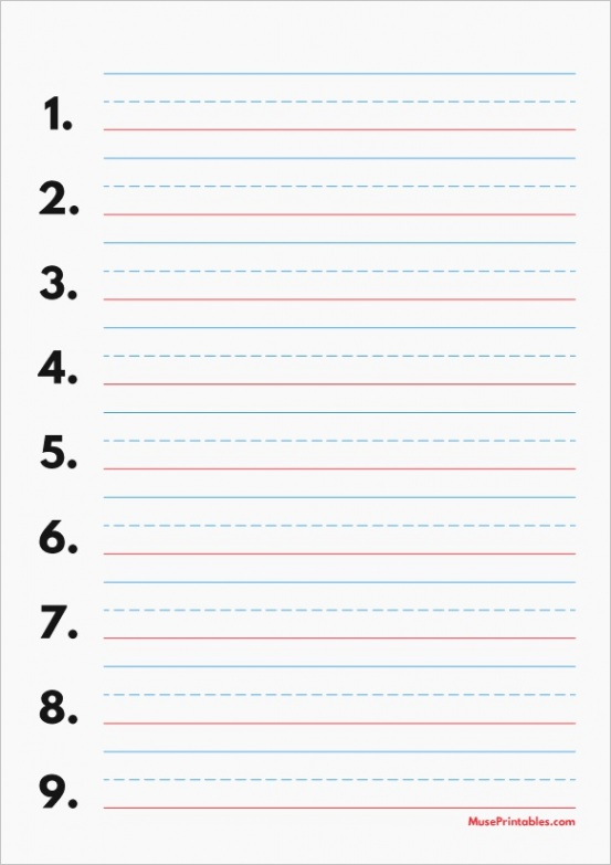 red and blue lined handwriting paper printable worksheets