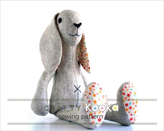 rabbit sewing pattern instant pdf