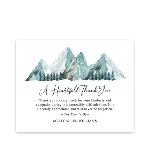 funeral acknowledgement card templates