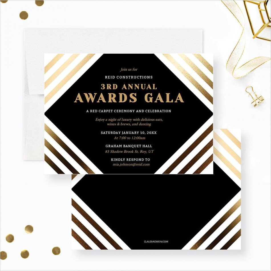 awards gala party invitation edit yourself template business invite digital elegant event formal corporate printable business 3930