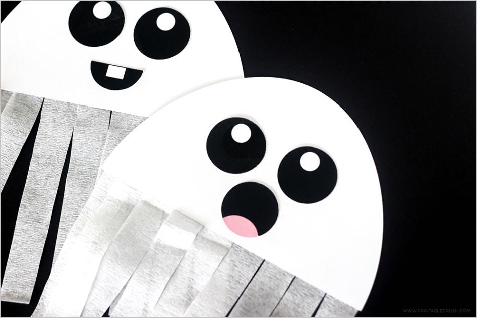 free printable ghost halloween craft