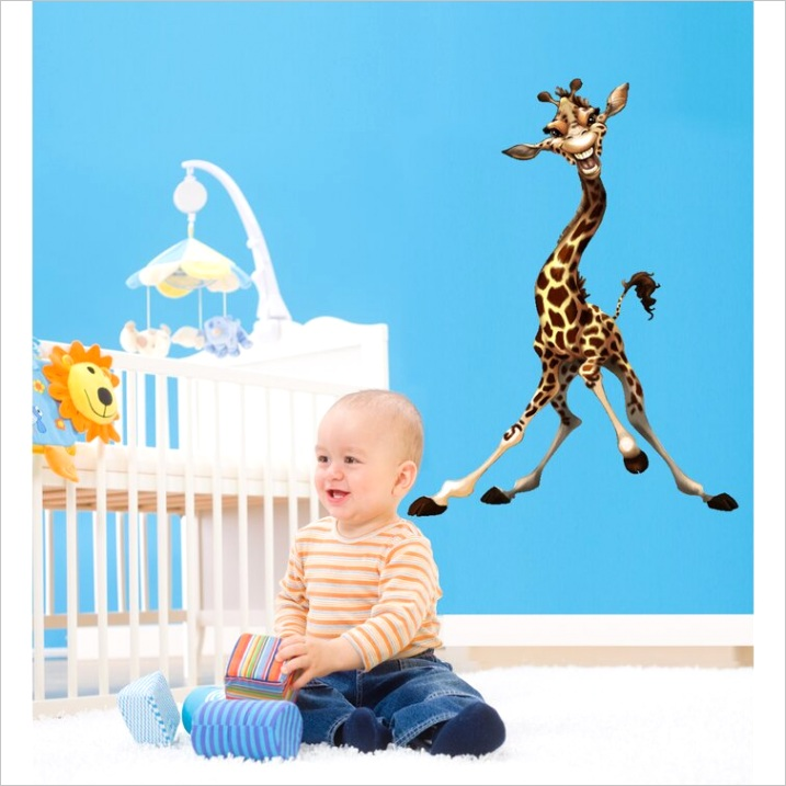 wallhogs giraffe cutout wall decal whgs1418ml