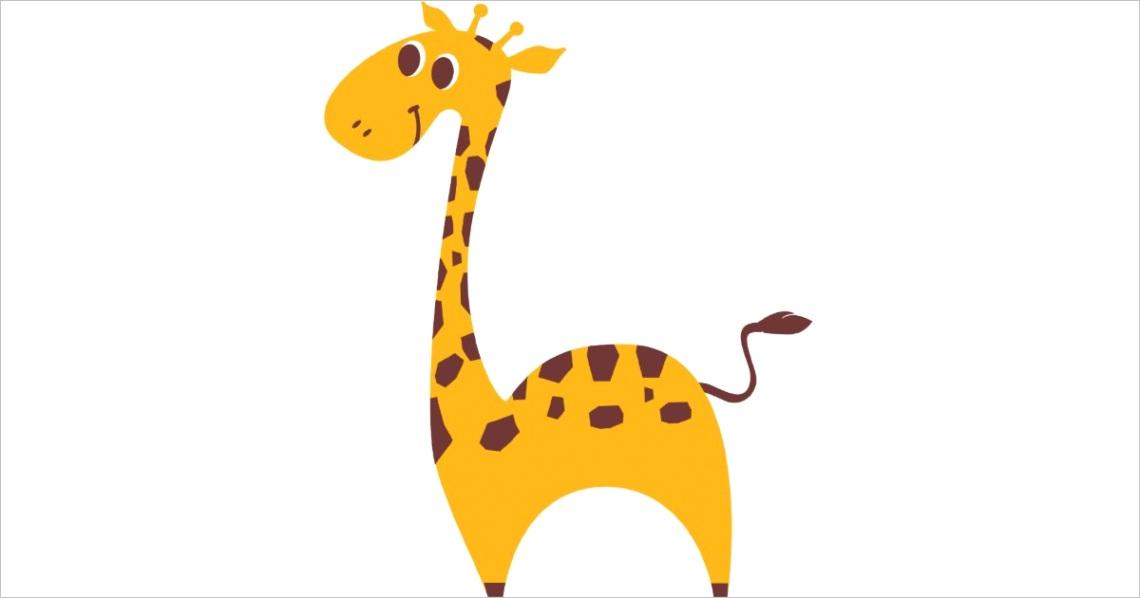 sweet giraffe cutout