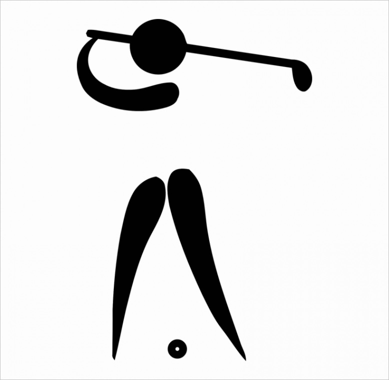 u2y3q8i1a9y3e6w7 picto golf girl golf clipart black and white