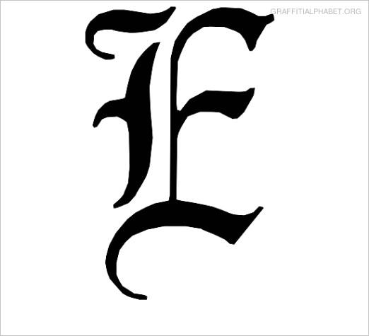post letter e fonts