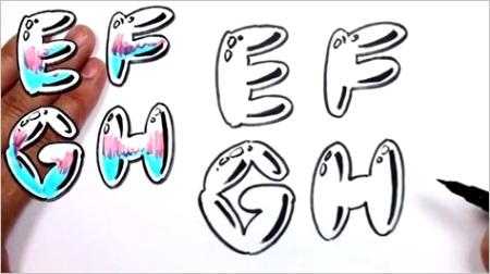 graffiti font letter eml