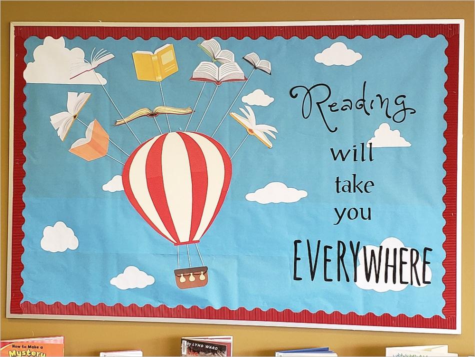 hot air balloon bulletin board