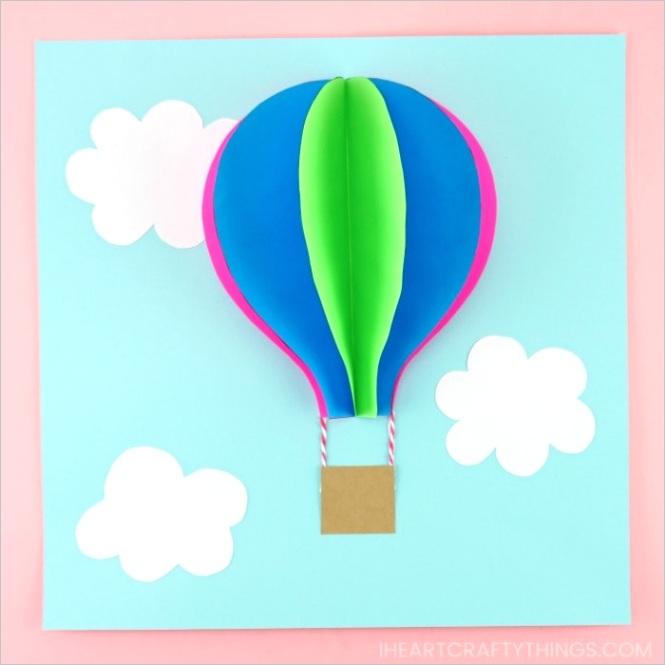 paper hot air balloonml