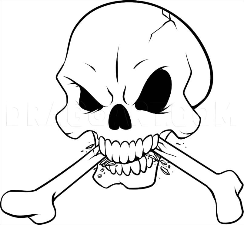 how to draw bones 4971