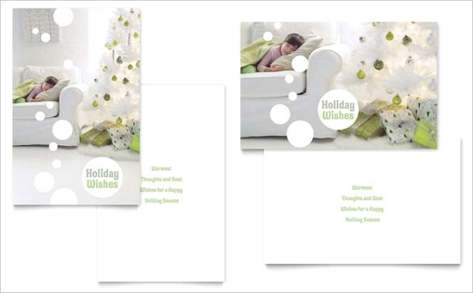Christmas Dreams Greeting Card Template Design XX x