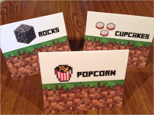 minecraft birthday party food ideas and more