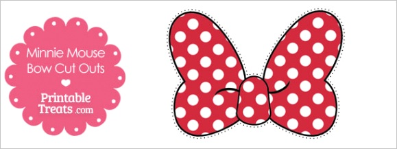 printable minnie mouse bow cut outs
