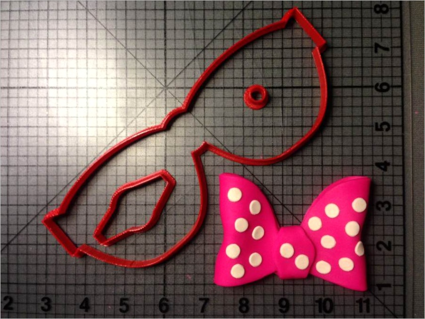 minnie mouse bow cookie cutter kit