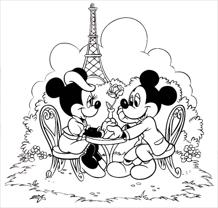 printable minnie mouse coloring pages