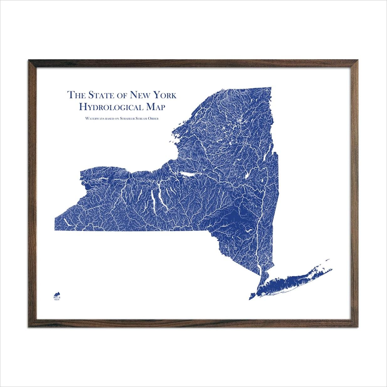 new york hydrological map