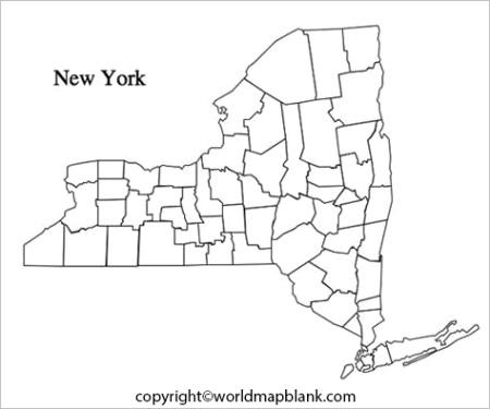 printable new york map
