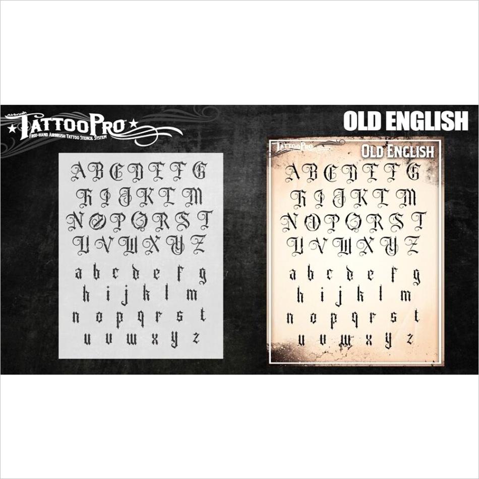 tattoo pro stencils old english font