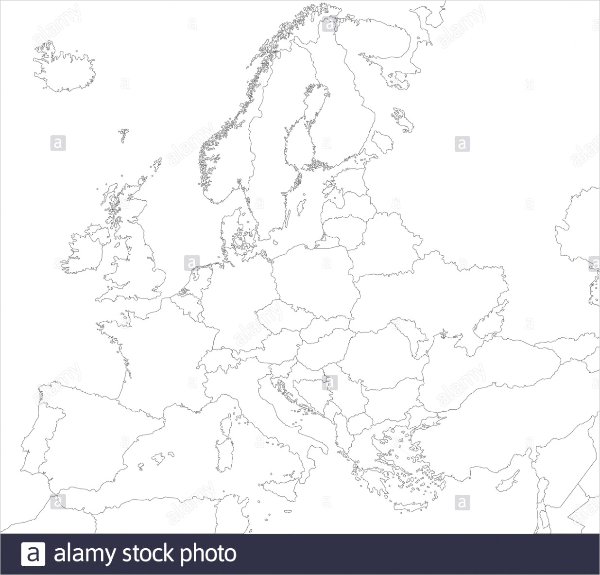 world map countries outline blackwhite=1