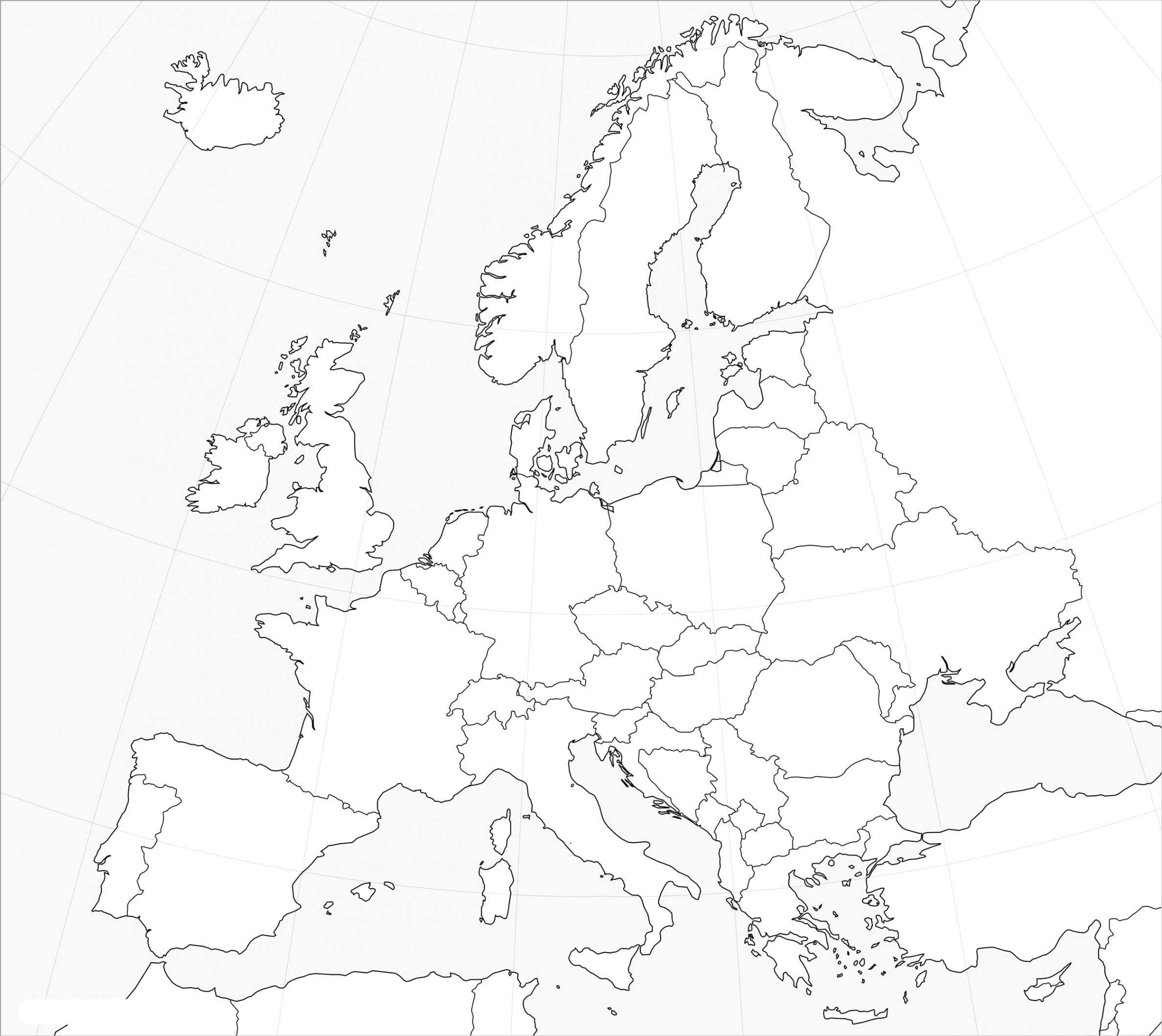 outline map of europe printable blank map of europe