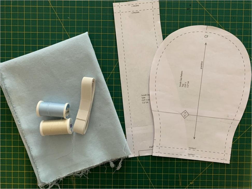 free scrub cap pattern and tutorial