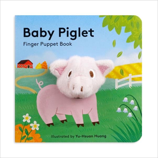 baby piglet finger puppet board book